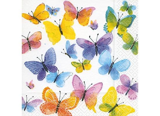 Paper+Design Servietten Tissue Flying colours 25 x 25 cm 20er