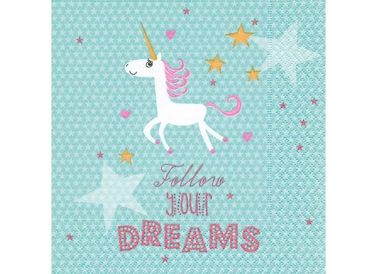 Paper+Design Servietten Tissue Follow your dreams 33 x 33 cm 20er