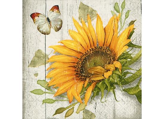 Paper+Design Servietten Tissue Vintage sunflower 33 x 33 cm 20er