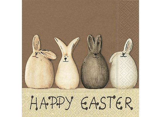 Paper+Design Tissue Servietten Happy Easter Bunnies 25 x 25 cm 20 Stück