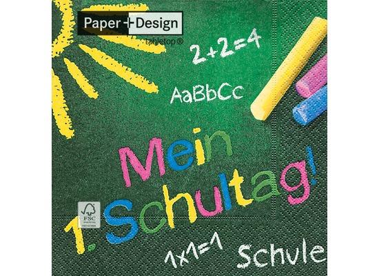 Paper+Design Tissue Servietten Mein 1. Schultag 33 x 33 cm 20 Stück