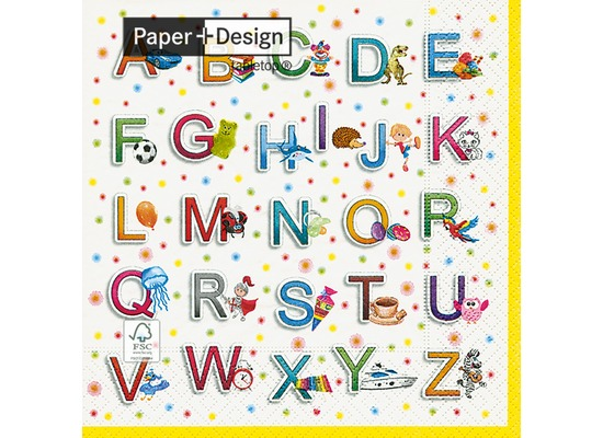 Paper+Design Tissue Servietten School fun 33 x 33 cm 20 Stück