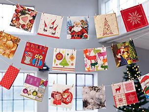 Tischdekoration winter duni servietten tischdecken kerzen und tischdekoration - Duni weihnachtsservietten ...