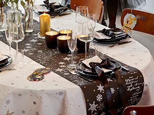 Tischdekoration Winter Duni Servietten Tischdecken